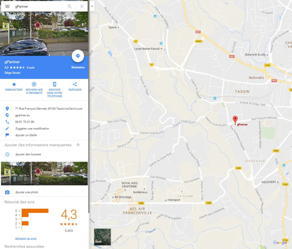 google maps gpartner
