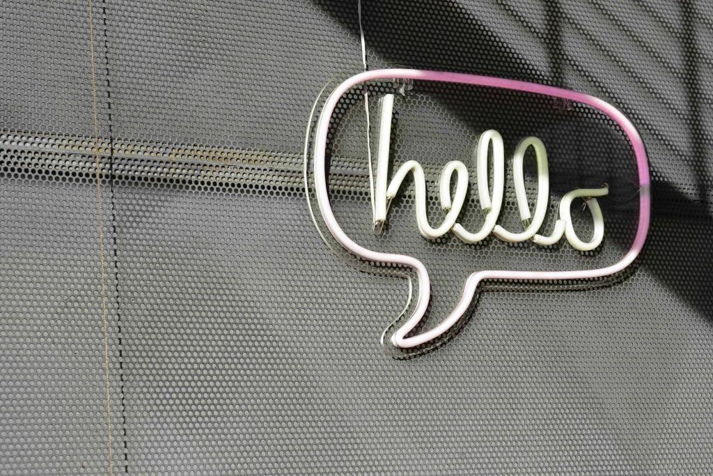 communication affichage néon