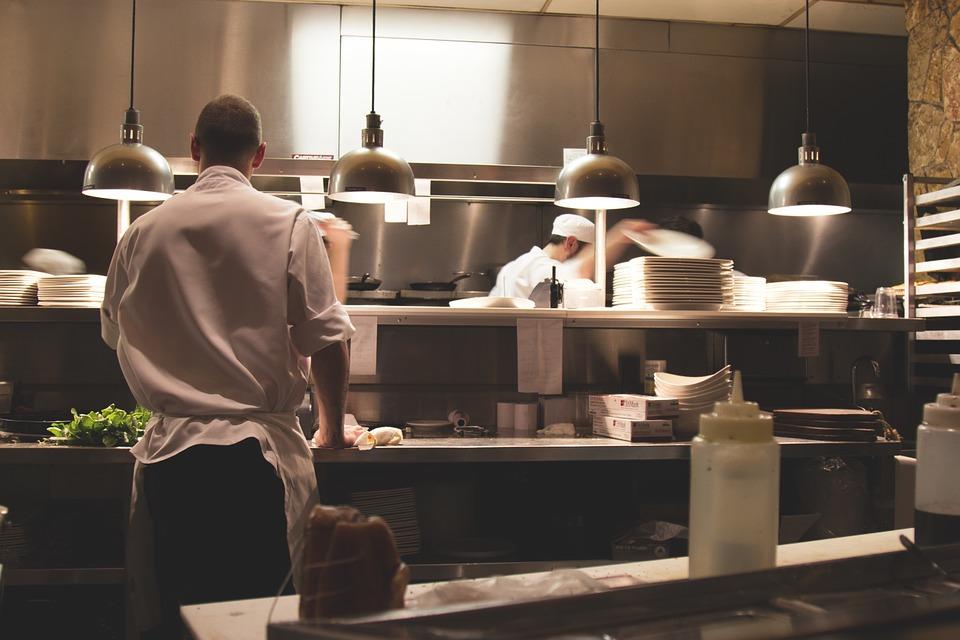 Cuisines d'un restaurant professionnel